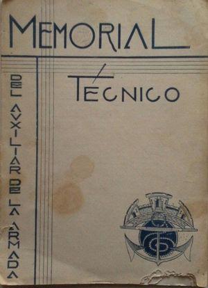 MEMORIAL TÉCNICO DEL AUXILIAR DE LA ARMADA - AÑO II Nº 6 ABRIL DE 1935