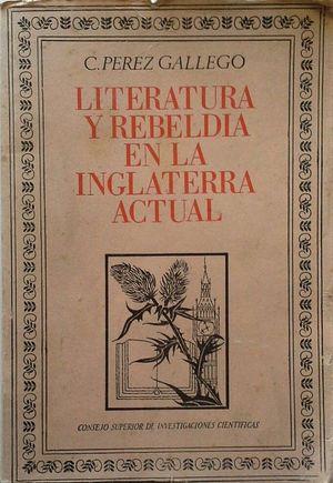 LITERATURA Y REBELDÍA EN LA INGLATERRA ACTUAL