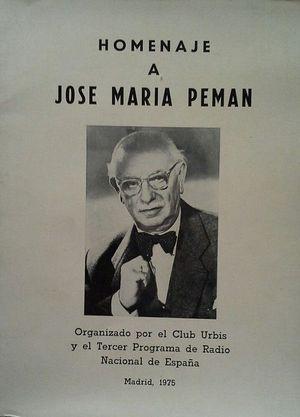HOMENAJE A JOSÉ MARÍA PEMÁN