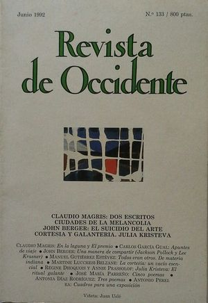 REVISTA DE OCCIDENTE Nº 133 - JUNIO 1992
