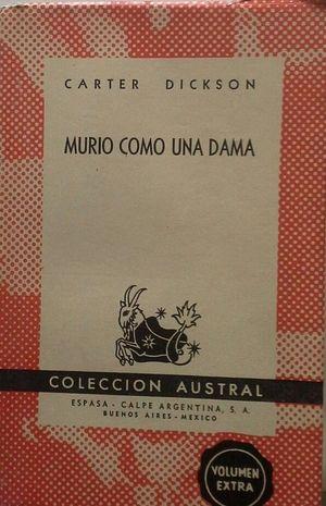 MURIÓ COMO UNA DAMA