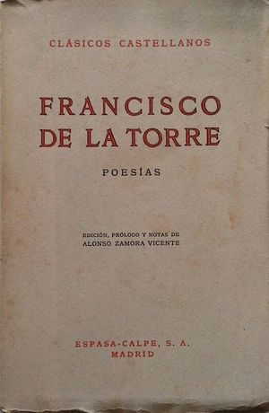 POESÍAS DE FRANCISCO DE LA TORRE
