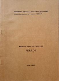 MEMORIA ANUAL DEL PUERTO DE FERROL