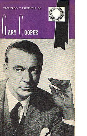 RECUERDO Y PRESENCIA DE GARY COOPER