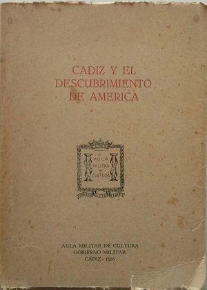 CÁDIZ Y EL DESCUBRIMIENTO DE AMÉRICA