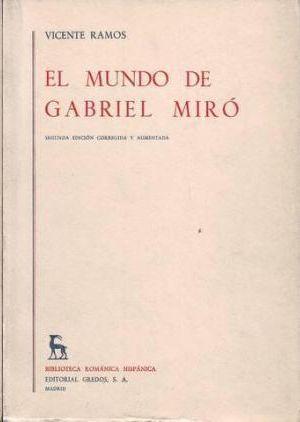 EL MUNDO DE GABRIEL MIRÓ