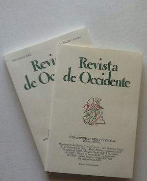 REVISTA DE OCCIDENTE Nº 254-255 JULIO-AGOSTO 2002 - CERNUDA - VIAJES - DEMOCRACIA Y TIRANÍA DE LA MAYORÍA - ACOMPAÑADO DE UN FACSÍMIL DE