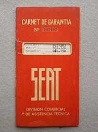 CARNET DE GARANTIA SEAT