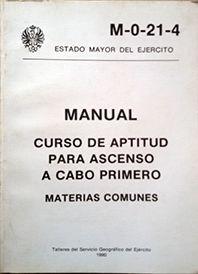 CURSO DE APTITUD PARA ASCENSO A CABO PRIMERO - MANUAL