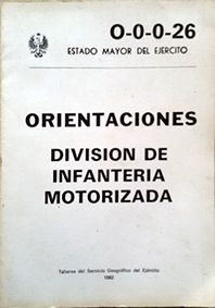 ORIENTACIONES DIVISION DE INFANTERIA MOTORIZADA O-0-0-26