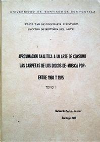 APROXIMACION ANALITICA AUN ARTE DE CONSUMO TOMO I