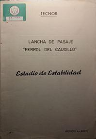 LANCHA DE PASAJEROS FERROL DEL CAUDILLO
