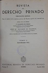 REVISTA DE DERECHO PRIVADO TOMO II