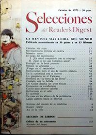 SELECCIONES DEL READER'S DIGEST OCTUBRE 1975 Nº 419