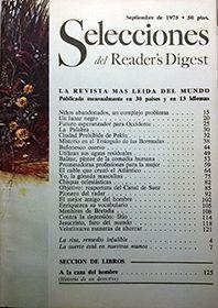 SELECCIONES DEL READER'S DIGEST SEPTIEMBRE 1975 Nº 418