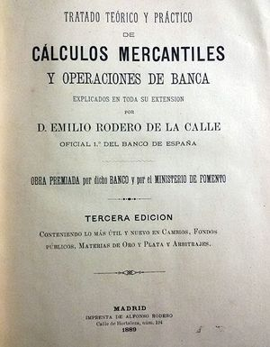 CALCULOS MERCANTILES Y OPERACIONES DE BANCA
