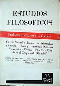 ESTUDIOS FILOSOFICOS