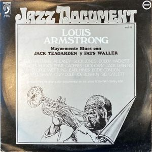 VINILO - JAZZ DOCUMENT VOL. 16 LOUIS ARMSTRONG