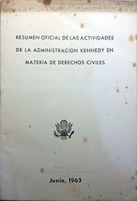 RESUMEN OFICIAL DE LAS ACTIVIDADES DE LA ADM. KENNEDY