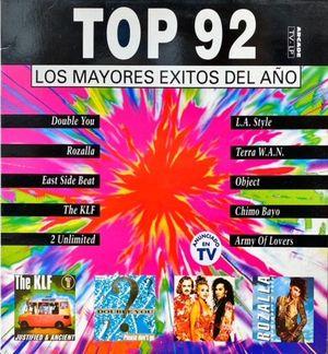 VINILO - TOP 92 LOS MAYORES EXITOS DEL AÑO
