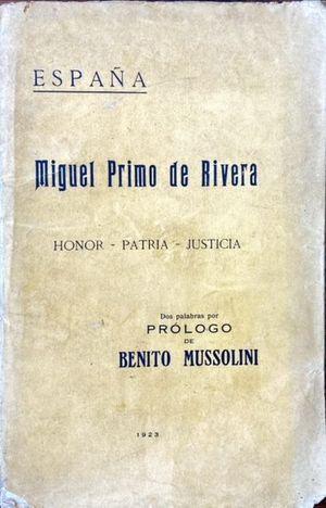 ESPAÑA, MIGUEL PRIMO DE RIVERA