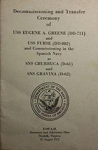 USS EUGENE A GREENE AND USS FURSE