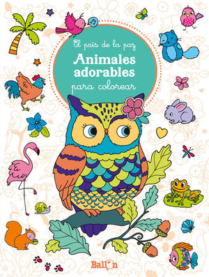 ANIMALES ADORABLES PARA COLOREAR