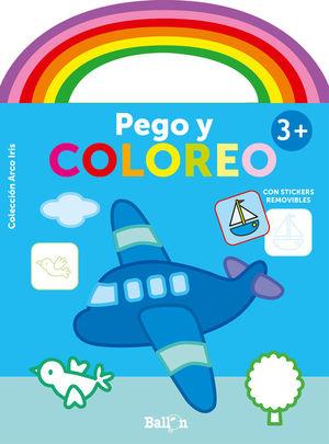 ARCO IRIS - PEGO Y COLOREO. AVIÓN (+ 3 AÑOS)