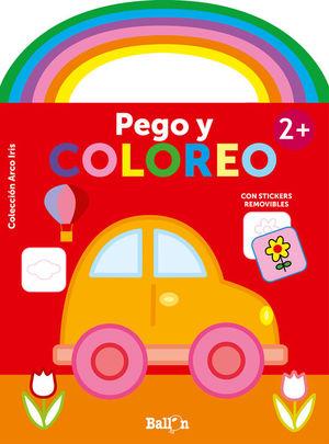 ARCO IRIS - PEGO Y COLOREO. COCHE +2 AÑOS