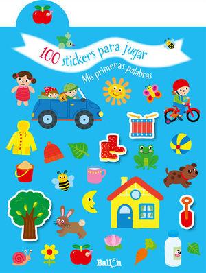 100 STICKERS PARA JUGAR - MIS PRIMERAS PALABRAS