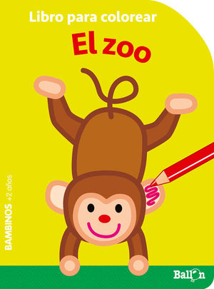 LIBRO PARA COLOREAR: EL ZOO (BAMBINOS + 2 AÑOS)