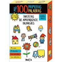 MIS 100 PRIMERAS NOCIONES - TARJETAS DE APRENDIZAJE BILINGÜES ESP/ ING