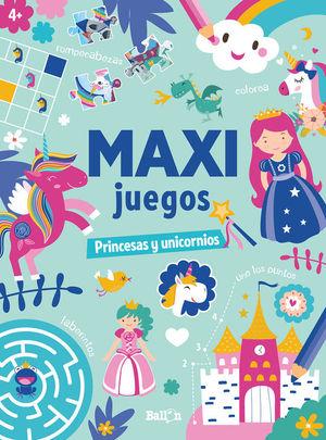 MAXI JUEGOS PRINCESAS Y UNICORNIOS +4