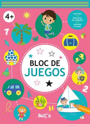 BLOC DE JUEGOS +4 ROSA