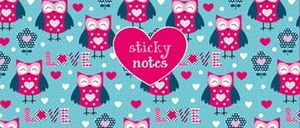 STICKY NOTES BUHOS