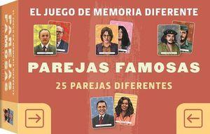 PAREJAS FAMOSAS. JUEGO DE MEMORIA DIFERENTE