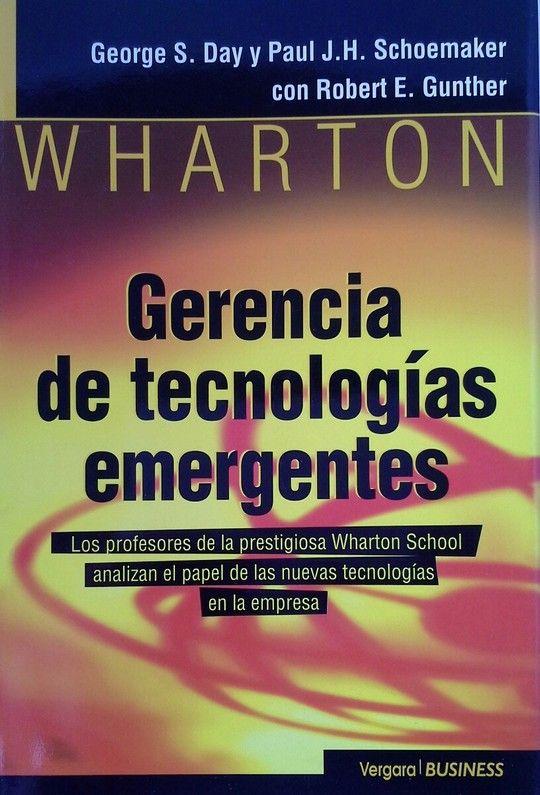 GERENCIA DE TECNOLOGÍAS EMERGENTES