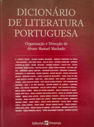 DICIONARIO DE LITERATURA PORTUGUESA
